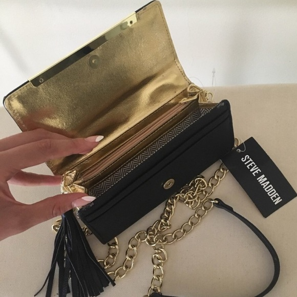 Steve Madden Handbags - Small Purse with Gold Chain and Tassel